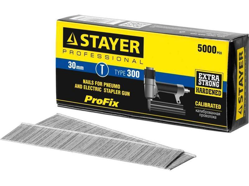 Гвозди тип 300, 30 мм, особотвердые, STAYER PROFESSIONAL 31530-30, 5000 шт