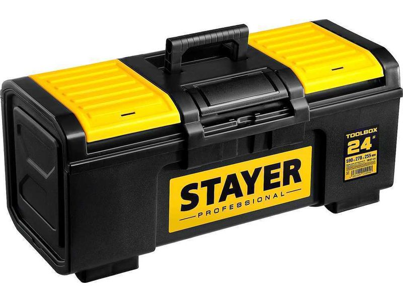 Ящик для инструмента TOOLBOX-24 пластиковый, STAYER Professional 38167-24