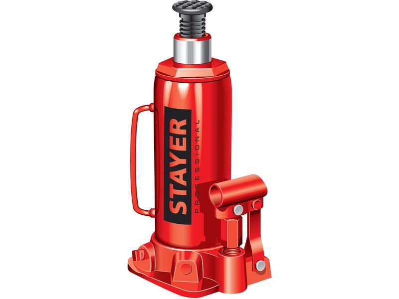Домкрат гидравлический бутылочный Stayer Profi 43160 - фото 7