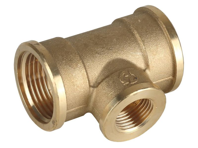 "Тройник GENERAL FITTINGS переходной, латунь, г/г/г, 3/4""-1/2""-3/4"""