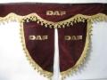 Ламбрекен лобового стекла DAF с косынками, двойной, синий