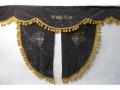 Ламбрекен лобового стекла VOLVO с косынками, двойной, черный